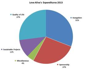LAI Expendituress Pie Chart 2013